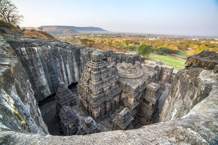 """The Ellora Caves are an exquisite archaeological site featuring a collection of 34 temple """"caves"""" built by followers of various Indian faiths."""