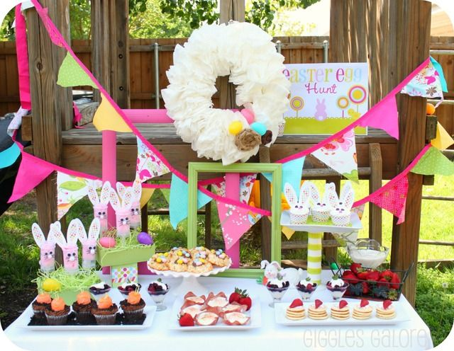 Incredible Easter party dessert table!   See more party ideas at CatchMyParty.com!