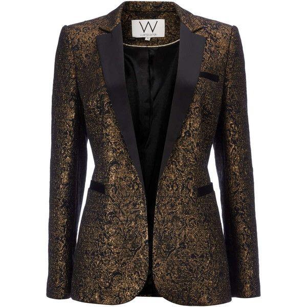 silk Brocade fabric Blue,Black & Metallic Bronze color