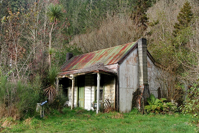 Old house, Blacks Point, Reefton, West Coast, New Zealand by brian nz, via Flickr
