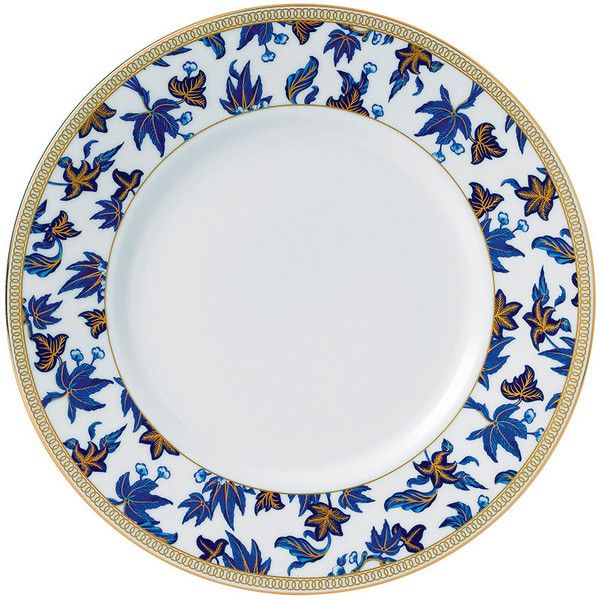 Wedgwood Hibiscus Plate - 23cm ($19) ❤ liked on Polyvore featuring home, kitchen & dining, dinnerware, blue, blue dinnerware, wedgwood tableware, dishwasher safe plates, floral plates and asian plates