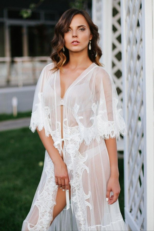Tulle and Lace Bridal Robe