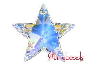 Crystal AB Swarovski Crystal Elements 6714 Star Pendant 28mm  #Swarovski #crystal #pendant #star #jewelrysupplies #anybeads