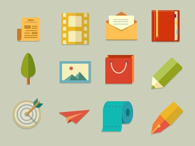 Flat Icons by Min Tran #flat #design #inspiration #icons