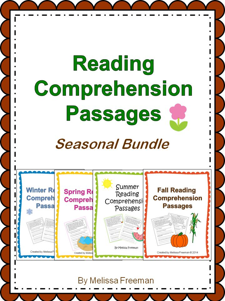 40 reading passages with comprehension questions for primary students (10 for each season).  Save $2 by buying all four seasons in this great bundle!  (Or just buy the ones you need separately in my TpT store!)