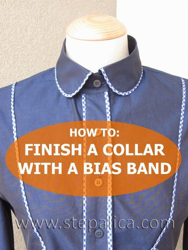 Štepalica: How to finish a shirt collar with a bias band (Excellent)