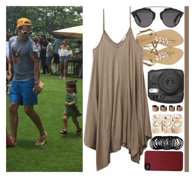 """""""With Harry Styles And A Little Girl"""" by angelbrubisc ❤ liked on Polyvore featuring Topshop, Faithfull, Dsquared2, 2b bebe, American Rag Cie, Monique Lhuillier, Wet Seal, Christian Dior, Fujifilm and Maison Margiela"""