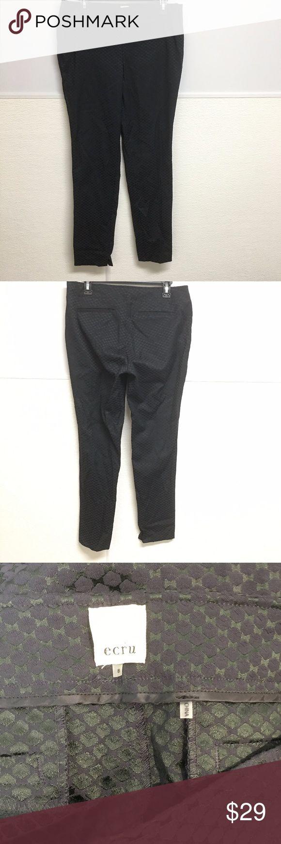 "ECRU NWT Costello Trouser Pants Printed Sleek 8 NWTs!! Brand - ECRU Size - 8 Costello Trouser Pants Dark Green/Black Print  waist - 16.75"" rise - 9"" bottom leg width - 9"" inseam - 32.5"" Ecru Pants Trousers"