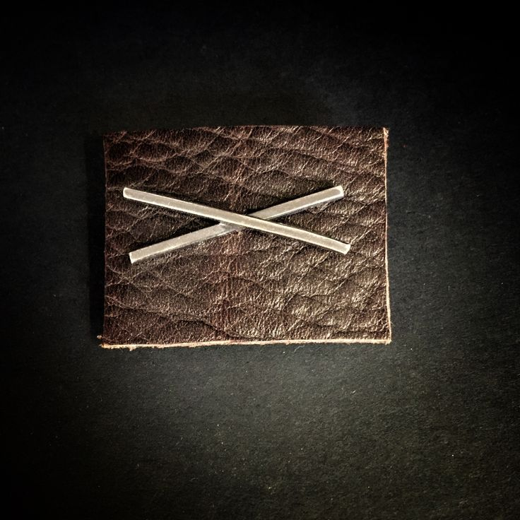 X lapel pin - Sterling silver