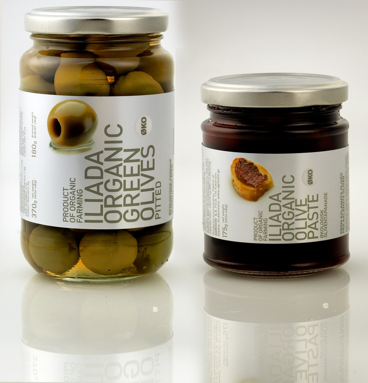Organic green pitted olives & organic Kalamata olive paste. Simple and delicious!