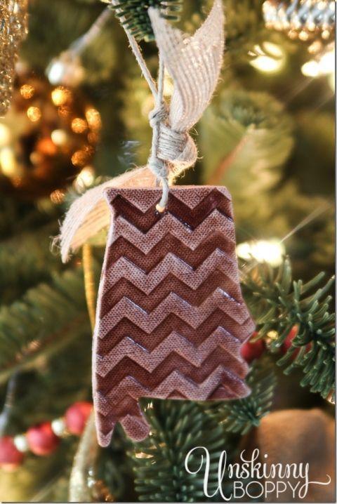 Chevron+Alabama+Christmas+ornament