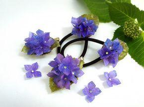 100均レジンとコピー用紙で手作り!紫陽花のアクセサリー