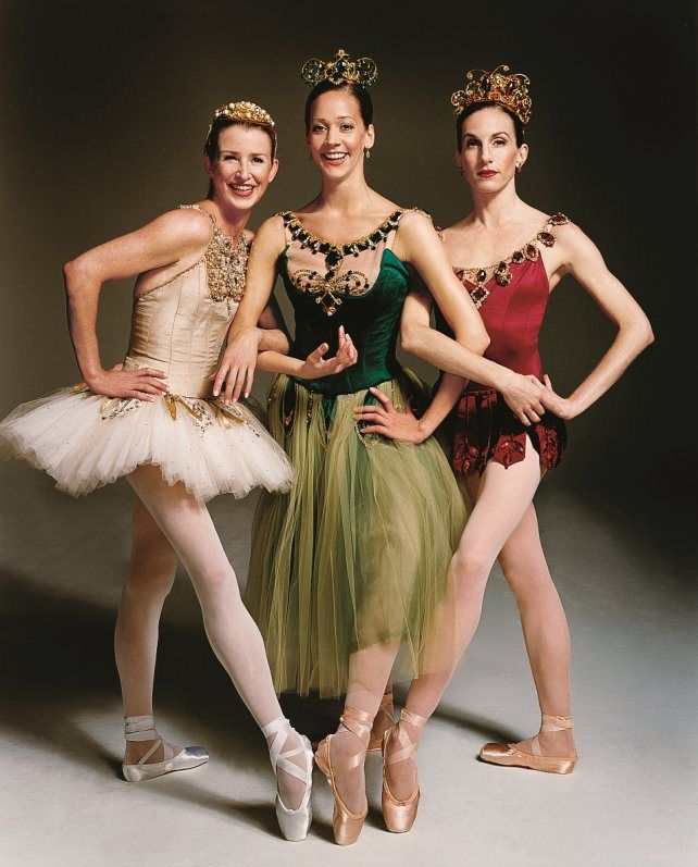 "Darci Kistler, Maria Kowroski and Wendy Whelan, ""Diamonds"", ""Emeralds"" and ""Rubies"" from ""Jewels"" by George Balanchine, New York City Ballet"