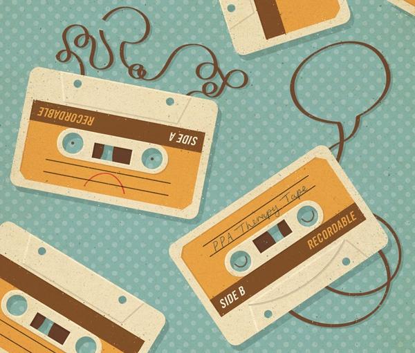 { zara picken - cassette tape }Zara Pickens, Inspiration, Vintage Colors, Cassette Tape, Speech Therapy, Colors Palettes, Graphics Design, Retro Illustration, Retro Vintage