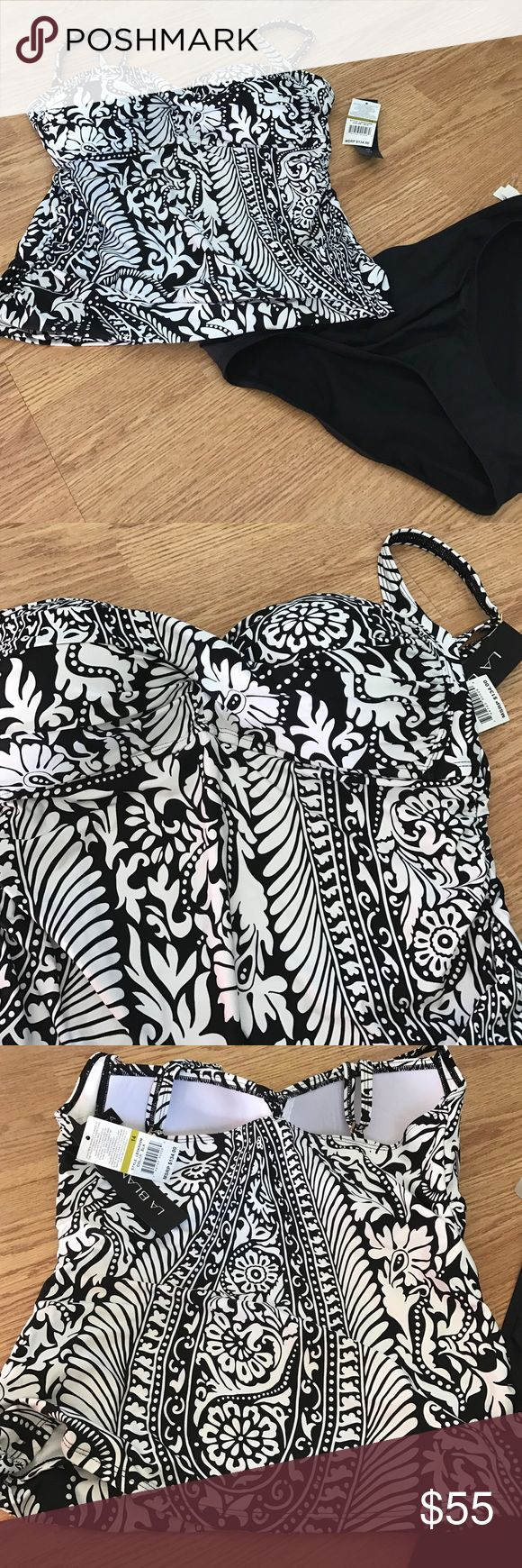 La Blanca black and white tankini NEW size 14 La Blanca black and white tankini size 14 NEW La Blanca Swim