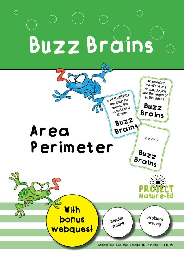 Get your students' brains going with this Buzz Brains activity!  Students will be required to perform mental arithmetic and apply knowledge of times tables to solve area and perimeter problems.