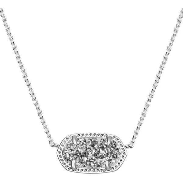 Elisa Silver Pendant Necklace in Platinum Drusy - Kendra Scott Jewelry ($65) ❤ liked on Polyvore featuring jewelry, necklaces, druzy jewelry, glitter jewelry, kendra scott necklace, pendants & necklaces and platinum jewellery