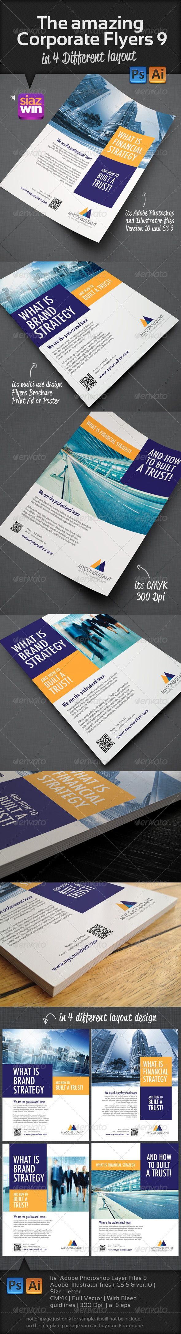 6 poster design photo mockups 57079 - The Amazing Corporate Flyers 9