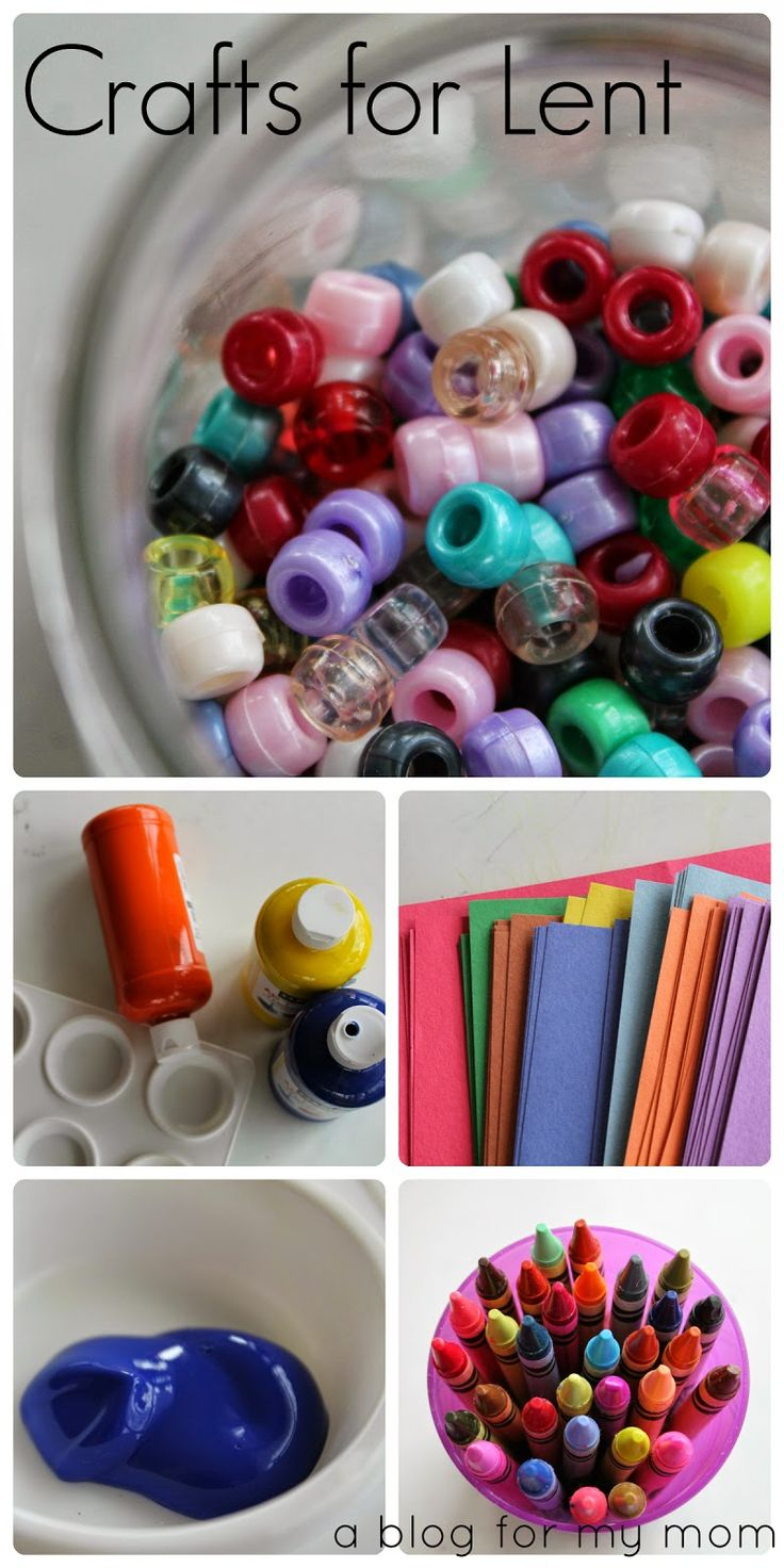 A blog for my mom: Crafts for Lent: The Reluctant Crafter's Guide