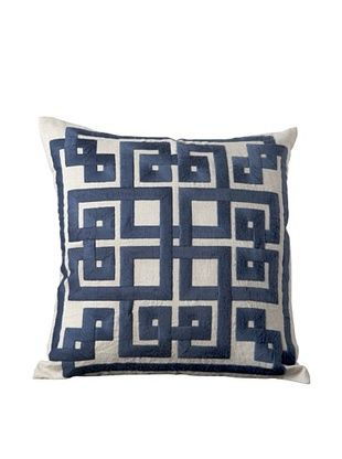 56% OFF Surya Geometric Throw Pillow (Dark Denim)