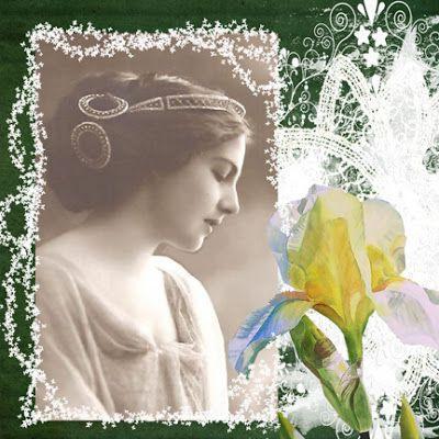 Digital collage by CORINNE MARIE:   Digital by Corinne Lunagirl Moonbeams by Lunagirl Vintage Images