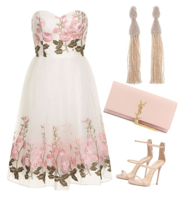 Untitled #346 by aldine-244 on Polyvore featuring polyvore fashion style Dorothy Perkins Yves Saint Laurent Oscar de la Renta clothing