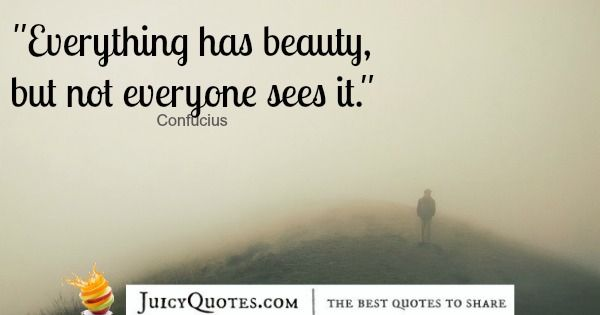 Quote About Beauty - Confucius