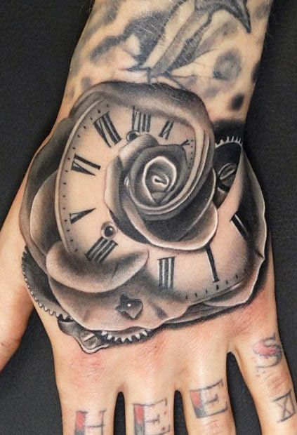 Realistic Time Tattoo by Andres Acosta | Tattoo No. 11978