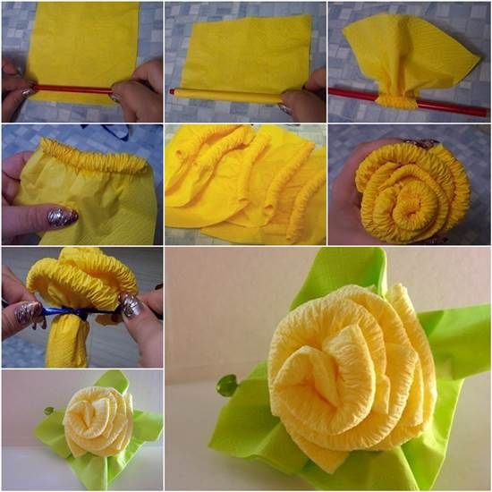 How to DIY Beautiful Rose from Napkins | iCreativeIdeas.com Like Us on Facebook ==> https://www.facebook.com/icreativeideas