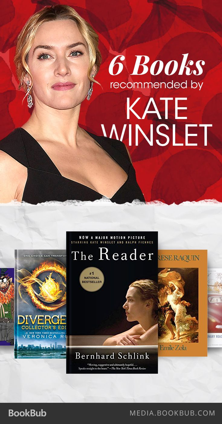 6 books recommended by Kate Winslet, including Divergent by Veronica Roth.