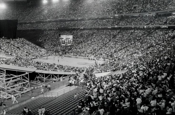 In 1988, the Silverdome hosted 60,000 people for an NBA playoff game between the Pistons and the Celtics.   This Is What Happens When A Football Stadium Is Abandoned For 8 Years