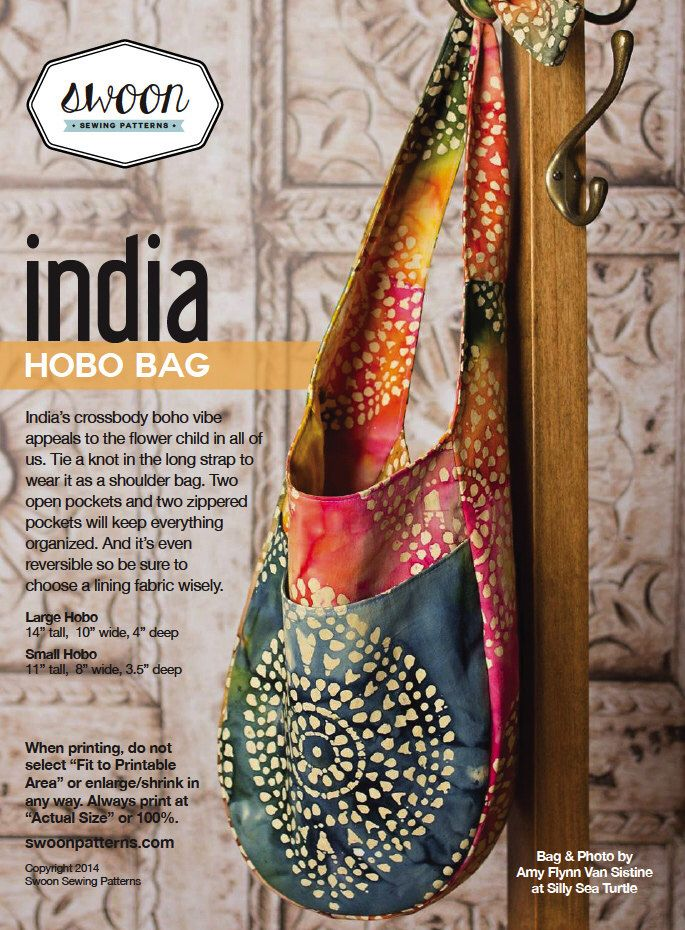 Swoon Patterns: India Hobo Bag - PDF Hobo Bag Purse Sewing Pattern by SwoonPatterns on Etsy https://www.etsy.com/listing/183078484/swoon-patterns-india-hobo-bag-pdf-hobo