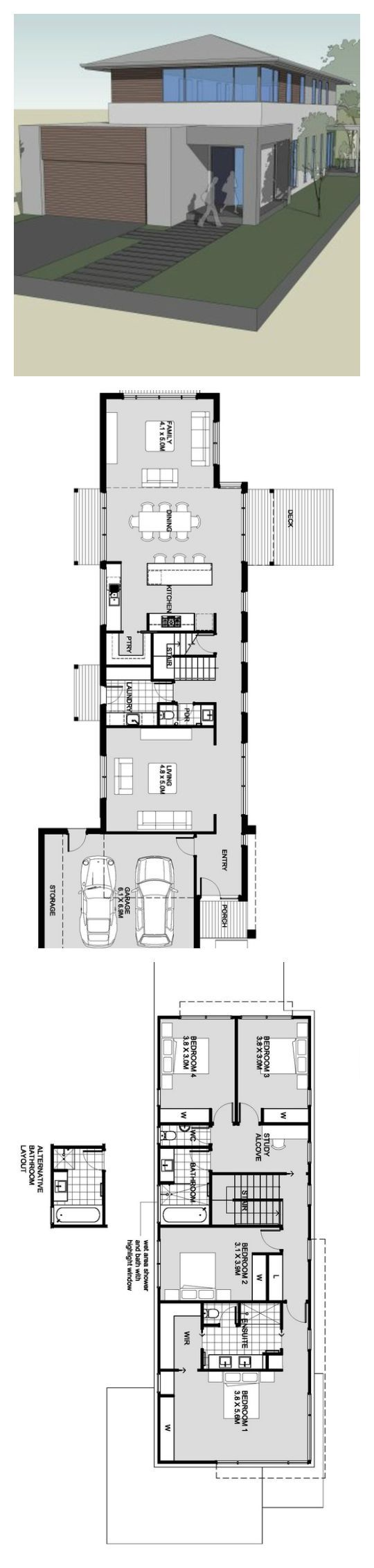 Floor Plan House 31 Best Reverse Living House Plans Images On Pinterest  House