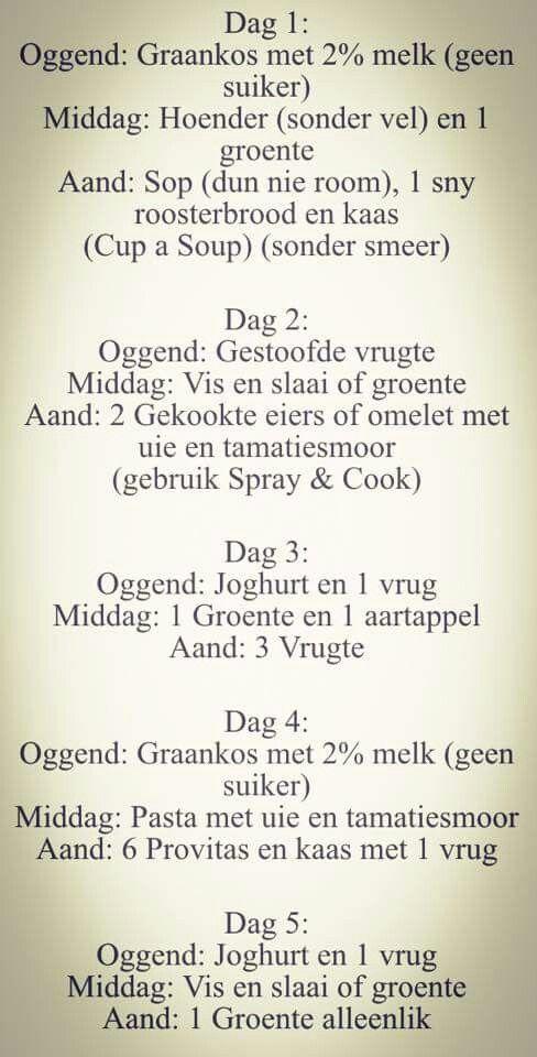 28 dae dieetplan