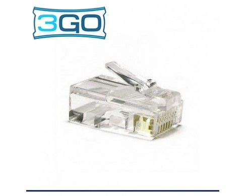 3GO CONECTORES RJ45 CAT.5+ 100 UNIDADES