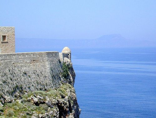 Rethymnon town, Crete - the Fortezza overlooking the sea (photo by dalbera)