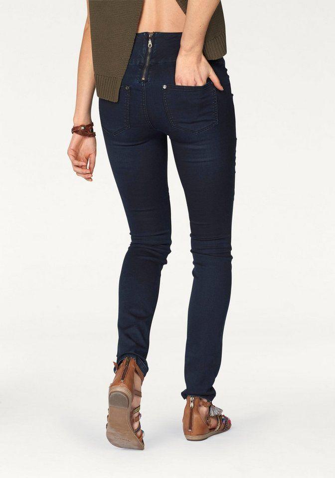 b1a6ac287d1667 AJC Slim-fit-Jeans, high-waisted mit Reißverschluss hinten für 39,