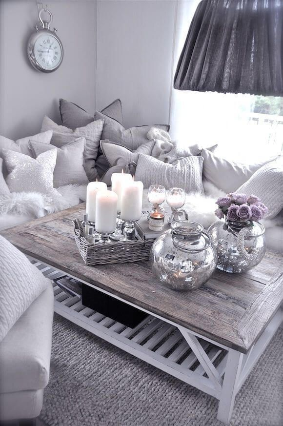 Wonderful Silver Grey Living Room Ideas Decoration