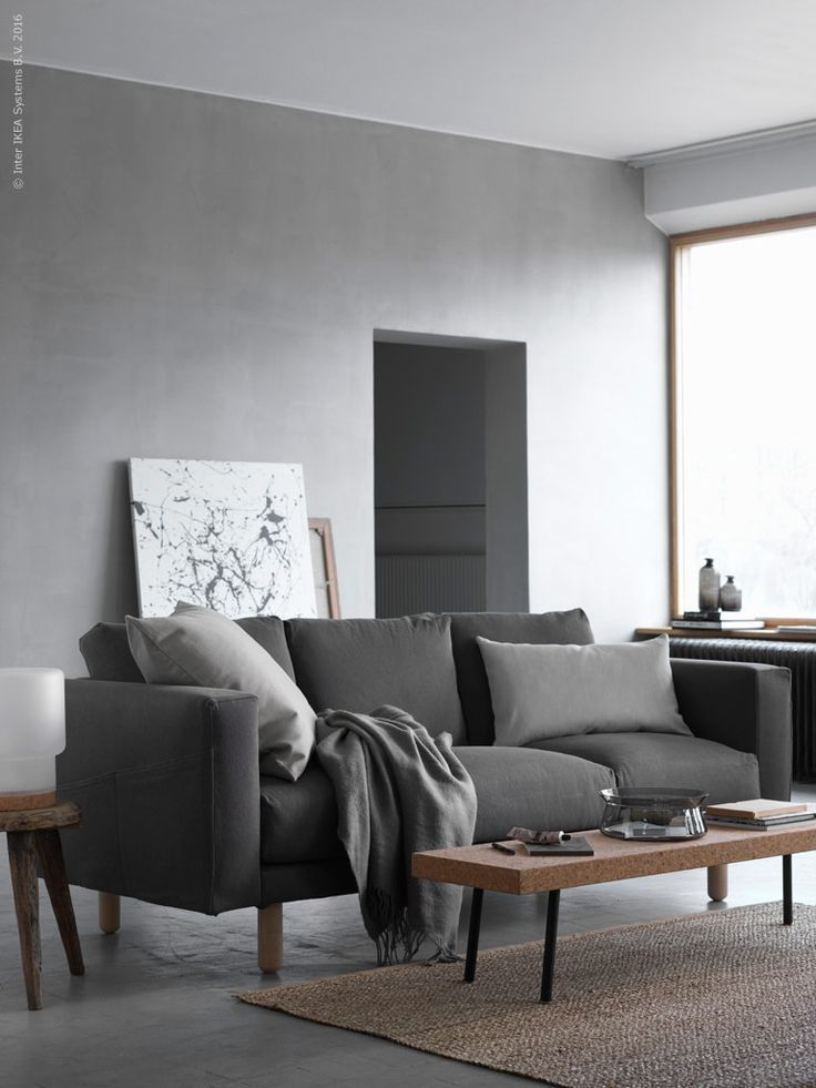 Shades of grey ikea norsborg sofa house living Shades of gray for living room