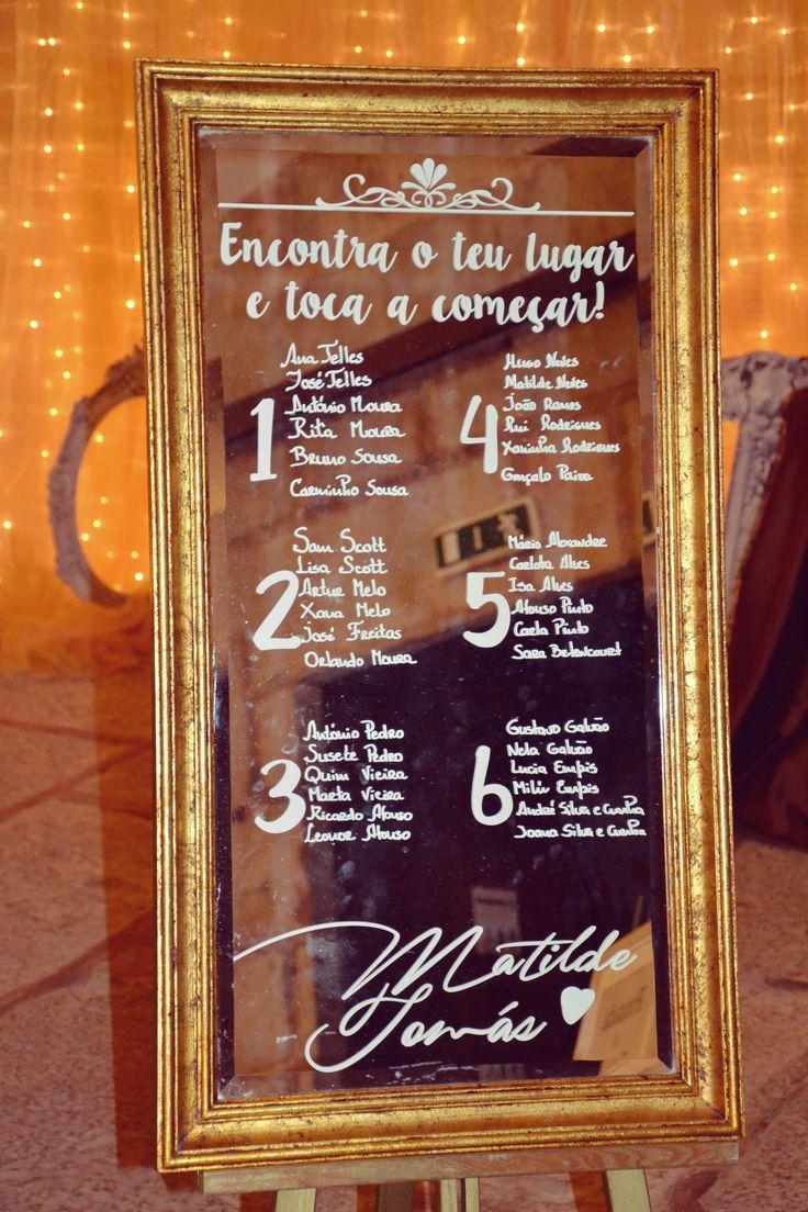 Golden mirror seating plan