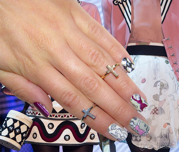 Fall 2015 Runway Inspired Nail Art Designs: Olympia Le Tan  #nails #nailart #naildesign