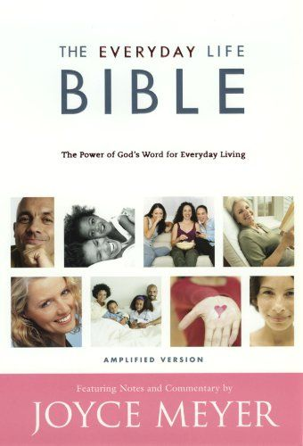The Everyday Life Bible: Containing the Amplified Old Testament and the Amplified New Testament by Joyce Meyer http://www.amazon.co.uk/dp/0446578274/ref=cm_sw_r_pi_dp_vmUQub1FCKQEV