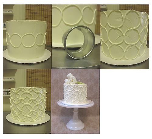 Layered Circles on Cake...reminds me of a Cathedral Window quilt!