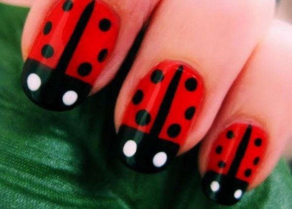 fashion earring For those who love ladybug you can also have it on your fingernails with these ladybug nail art designs