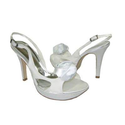 Plataforma Flor- Salto 10cm - Branco - - PRT0028 De: R$270,00 Por: R$202,50