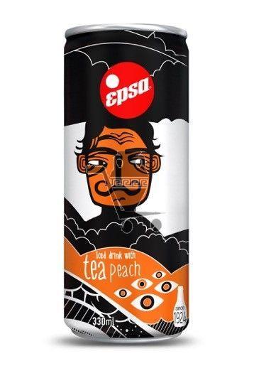 EPSA негазированный напиток, чай с персиком 330 мл (4 шт)