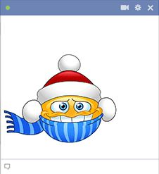 This emoticon is perfect for posting on Facebook for those cold winter days.