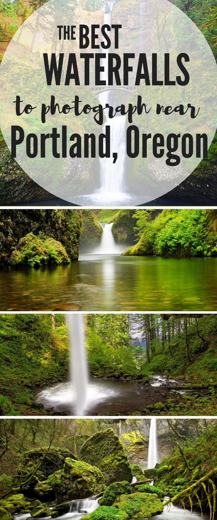 The most amazing waterfalls you must see that are only a short drive for Portland, Oregon.