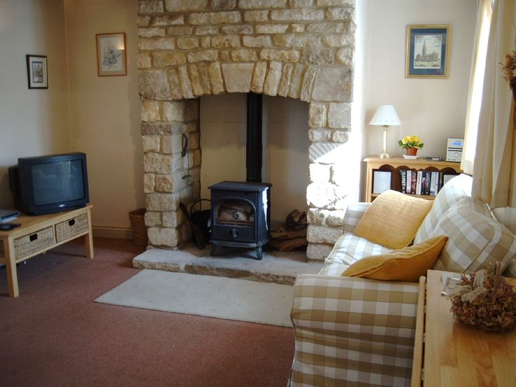 I Love The Idea Of A Wood Stove Inside The Fire Place Stone Hearth Perfecto Footpath Cottage