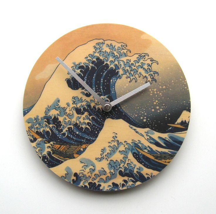Objectify Great Wave Wall Clock - hardtofind. $36.00 #hardtofind #clock #blue #wave #water #time